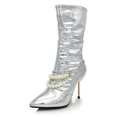 Heart&M Mujer Zapatos Brillantina Microfibra Otoño Invierno Innovador Botas de Moda Botas Tacón Stiletto Dedo Puntiagudo Mitad de Gemelo