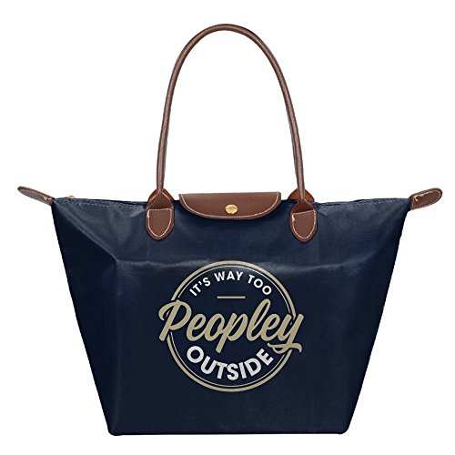 Adwelirhfwer Unisex It's Way Too Peopley Outside Picnic Pack Navy by Adwelirhfwer