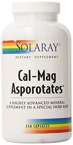 Solaray Calcium and Magnesium Asporotate Capsules, 240 Count - Herbal Calcium Capsule