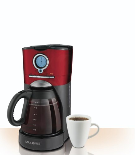 Mr Coffee Retro Coffee Maker : Coffee Makers: Mr. Coffee Performance Brew 12-Cup Programmable Coffee Maker, Red/Black/Stainless ...