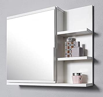 Spiegelschrank bad mit ablage  DOMTECH Badezimmer Spiegelschrank mit Ablagen, Badezimmerspiegel ...