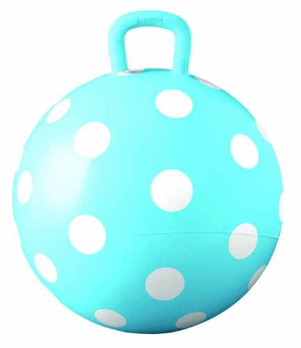 (Hedstrom Blue Polka Dot Hopper Ball, Kid's Ride-on Toy, Bouncy Hopping Ball with Handle - 15)