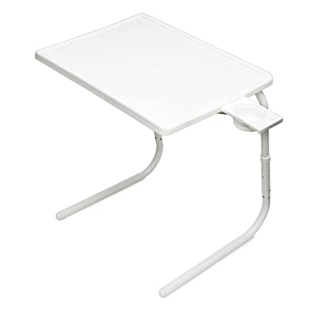 Charmant Table Mate II Folding TV Tray (White)
