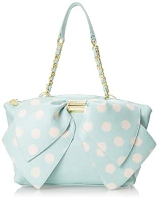 Betsey Johnson Bownanza Shoulder Bag,Mint Dot,One Size
