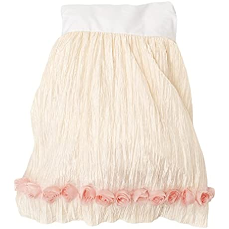 Glenna Jean Victoria Bed Skirt Ecru Crinkle With Roses Full