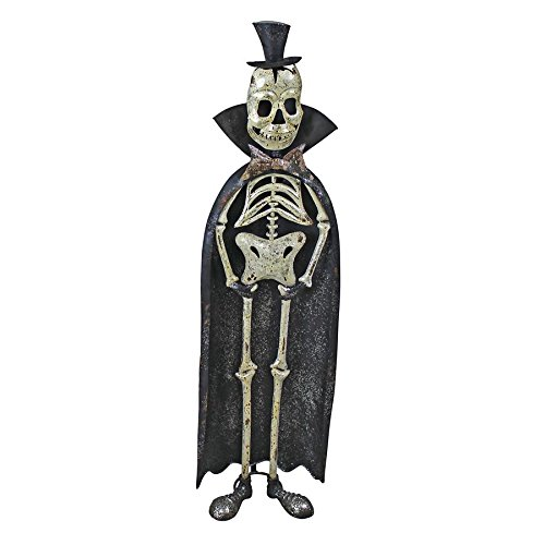 Day of the Dead King Metal Skeleton Statue - Skeleton Figure - Halloween Decorations