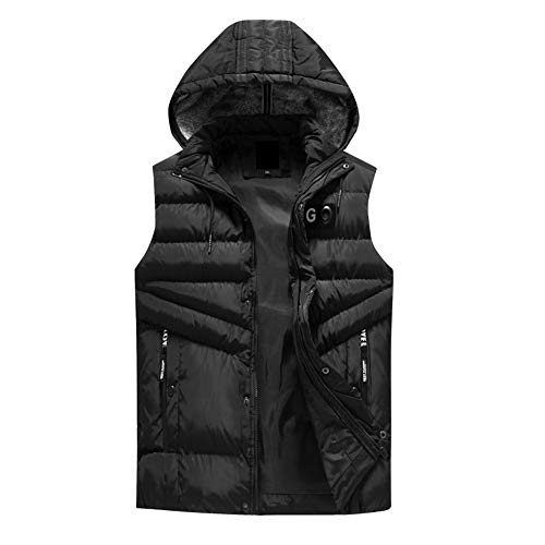 Sport Madras Coat (BOOMJIU Men's Outdoor Casual Stand Collar Padded Vest Coats Puffer Cargo Vest with Pocket Removable Waistcoat Jacket)