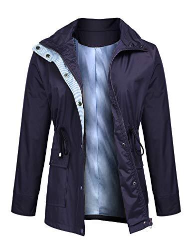 Raincoats Waterproof Lightweight Rain Jacket Active Outdoor Hooded Women's Trench Coats