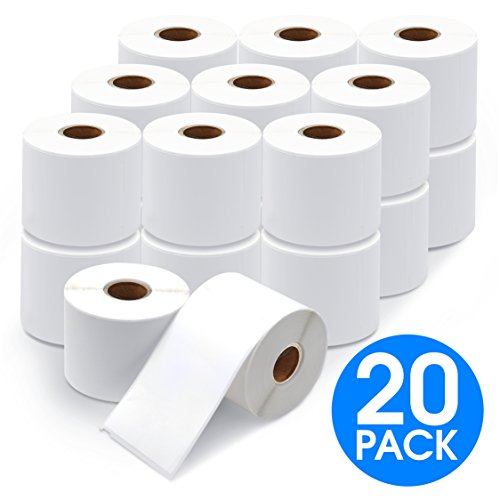 "Aegis Labels - 20 Rolls DYMO 30256 Compatible Shipping & Internet Postage 2-5/16"" X 4"" Replacement Labels for LW Labelwriter 450, 450 Turbo, 4XL (300/Roll)"