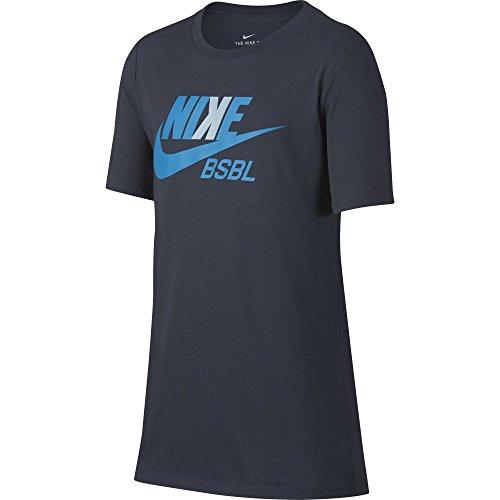 NIKE Boys Dry Baseball Tee, Thunder Blue, Medium