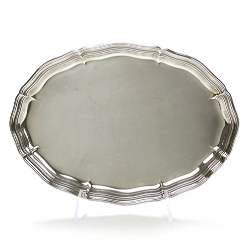 Oval Tray, Silverplate, Scalloped Edge