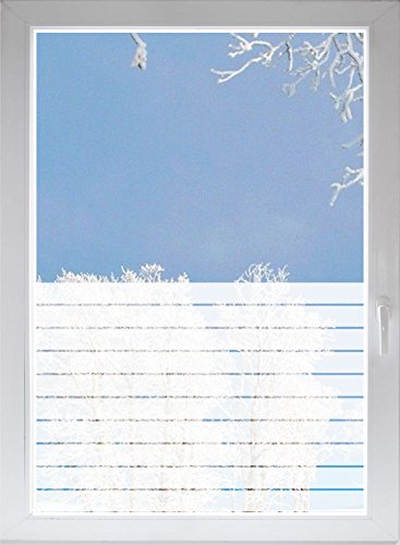 INDIGOS UG - Glass decoration film window film privacy film sunscreen burnished strips opaque - 1200mm long x 500mm high (Burnished Door Shower Glass)