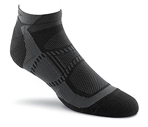 Fox River Peak Velox LX Lightweight Compression Athletic Ankle Socks, Medium, Black