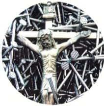 Jesus Crucifixion & Nails Magnet