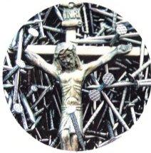 Jesus Cross & Nails Keychain ()