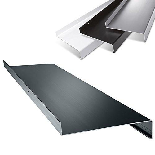 Aluminium Fensterbank in Anthrazit Zuschnitt nach Maß Länge 800 mm Ausladung 70 mm - weitere Längen und Farben wählbar