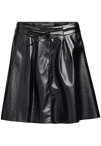 Khujo Para Negro Liso Mujer Falda 6rx6wq4