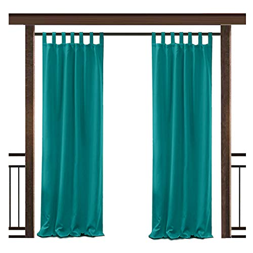 erproof Curtain Turquoise Tab Top Drape, 72