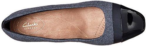 Clarks Keesha de la mujer rosa Grey Synthetic Fabric