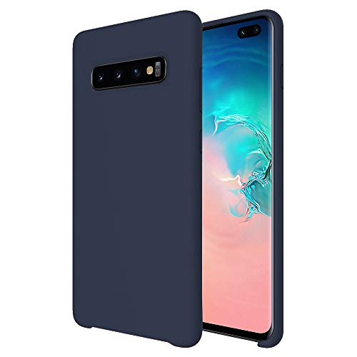 Olixar Silicone Soft Case Compatible with Samsung Galaxy S10 Plus - Silicone Slim Cover - Scratch Resistant - Olixar Case - Wireless Charging Compatible (Midnight Blue)