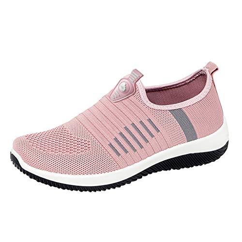 Casual Slip on Sneakers for Women, Huazi2 Breathable Walking Work Shoes Mesh Running Shoes (Black And White Patent Leather Air Force Ones)