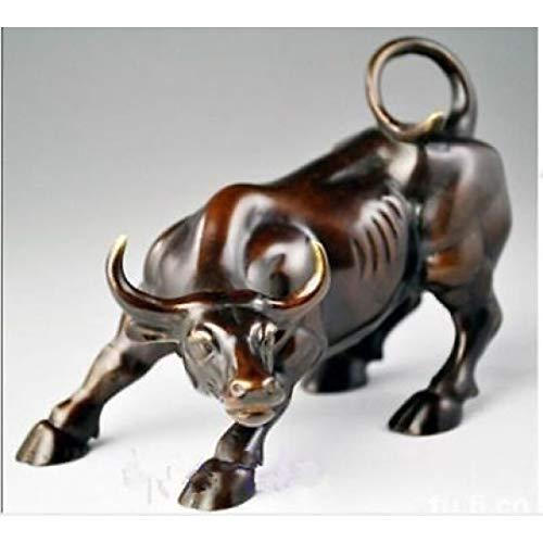 - YOTATO Big Wall Street Sculptures Bronze Fierce Bull OX Statue
