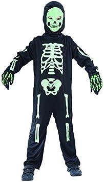 Disfraz de esqueleto verde niño - 4 - 6 años: Amazon.es: Juguetes y ...