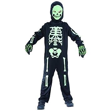 Disfraz de esqueleto verde niño - 4 - 6 años: Amazon.es ...
