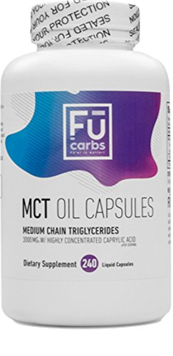 FŪ Carbs MCT Oil Capsules - 240 count, 3000 mg per serving