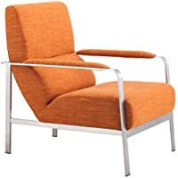 Zuo Modern Jonkoping Arm Chair, Orange