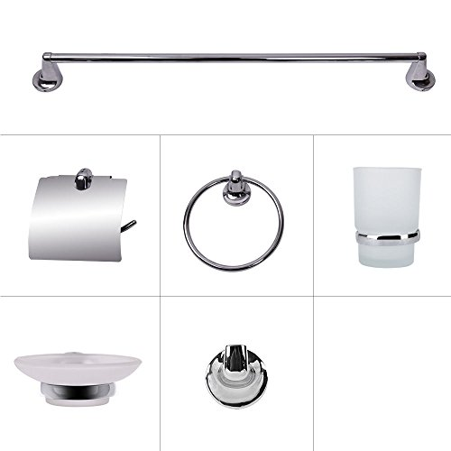 Devonshire 6 Light (Morden 6 pieces Bath Accessory Set Bathroom Chrome Multi-functional Hardwares)