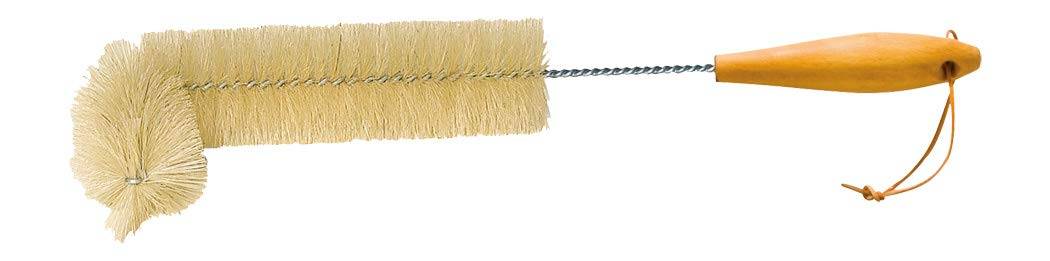 REDECKER Natural Pig Bristle Radiator Brush with Oiled Beechwood Handle, 18-1/2-Inches