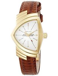 Hamilton Ventura White Dial Brown Leather Ladies Watch H24101511