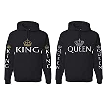 Allntrends Couple Hoodie Queen And King Love Valentine's Day Gift