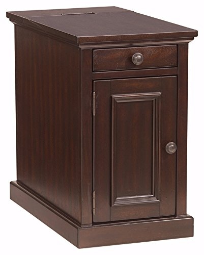 Ashley Furniture Signature Design - Laflorn Chairside End Table - Rectangular - Sable Brown ()