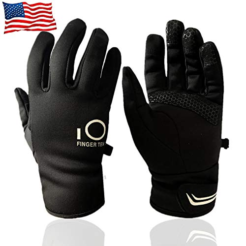 (Warm Winter Gloves Men Women Touch Screen Waterproof, Thick Thermal Grip Outdoor Sports Cycling Driving Running Skiing Touchscreen 3M Design (X-Large))