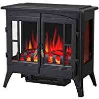 R.W.FLAME Infrared Electric Fireplace St...