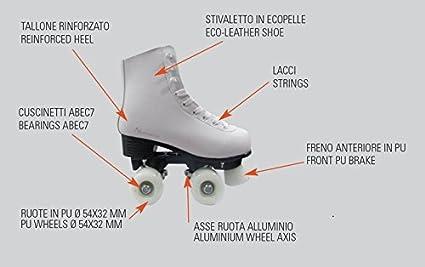 Taille 33 GRG-048 Blanc Garlando- Axel roulettes pour Patinage Artistique NEXTREME