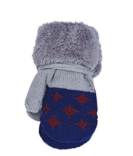 Niños Calientes Auxma Por Azul Muchachas Guantes De Punto Edad Niño Del guantes 0 4 Años Los Bebés Leaf xzgHwRq0z