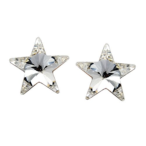 Prism Clear Crystal Star .925 Sterling Silver Stud ()