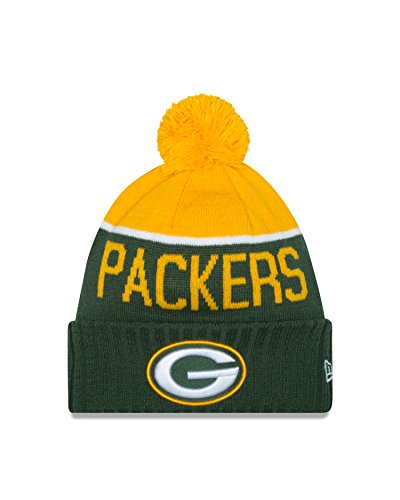 New Era Green Bay Packers 2015 Youth Sport Knit Hat (Beanie Youth Green Packers Bay)