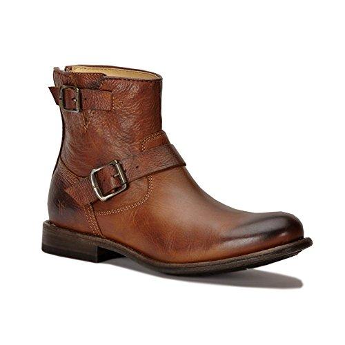 Frye Men's Tyler Engineer Boot - Cognac - 86073 - 12 D(M) US