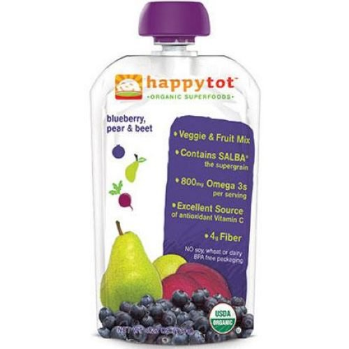 Happy Family happy tot Purees - Blueberry Pear and Beet - 4.22 oz - 16 pack