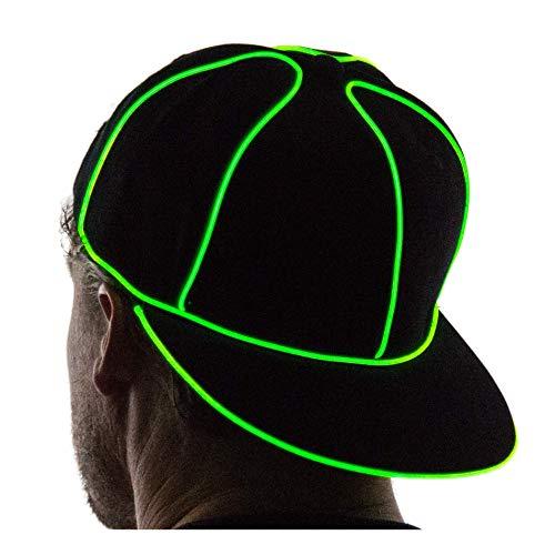 Neon Nightlife Light Up Snapback Hat, Green]()