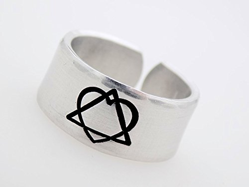 Amazon Adoption Symbol Ring Handstamped Adjustable Ring For