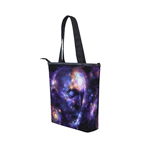 Shoulder Galaxy Womens Canvas MyDaily Handbag Galaxy Tote Tote Bag Bag MyDaily Canvas Shoulder Face 6A8qFnqwH