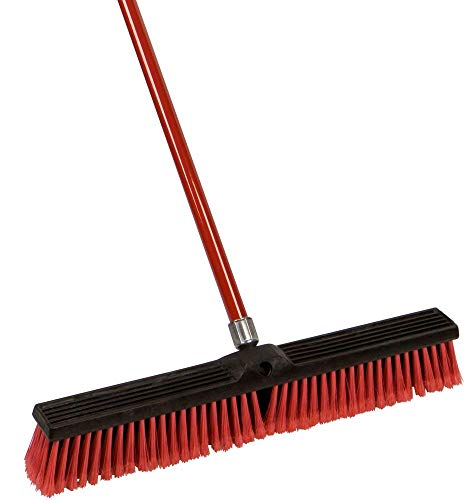 Beverly Hills Creation Large 18'' and 24'' Multi-Surface Push Broom with 49'' Alloy Handle (24'' Broom) by Home Sweet Home Dreams Inc (Image #2)