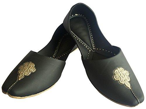 de Étape Ltd Khussa jutti Jaipuri Noir Housse Chaussures Hommes Chaussures panjabi ethnique kolhapuri Style indien mojari N UHx8wrHt