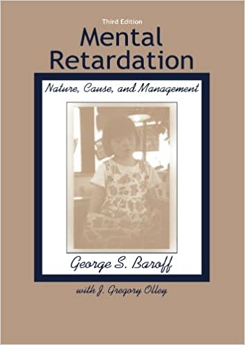 Book Mental Retardation: Nature, Cause, and Management