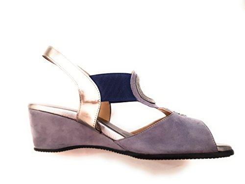 Pelle Loren Elegante Sandalo Linea 8027 Comoda Art Jeans AASr4